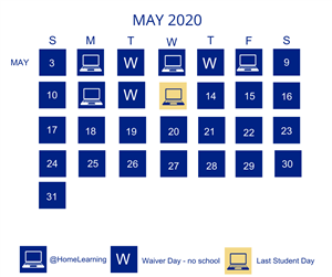 May calendar of @HomeLearning