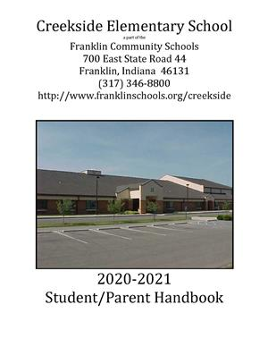 Creekside Student Handbook Front Page Image