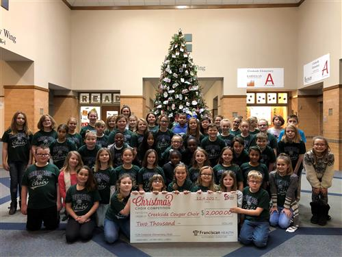 Creekside Choir $2000 Check Presentation from B105.7