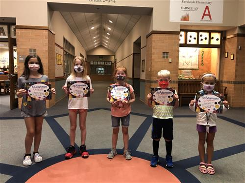 Creekside Artists of the Month for August Group Photo