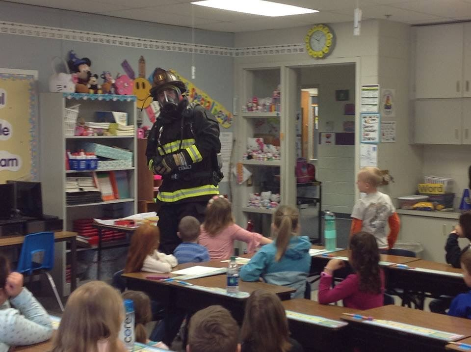 First grade learning about our firefighters today