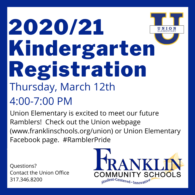 2020/21 Kindergarten Registration Postponed