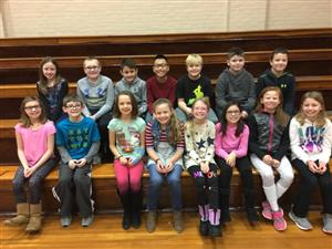 4th Grade A/B Honor Roll Students