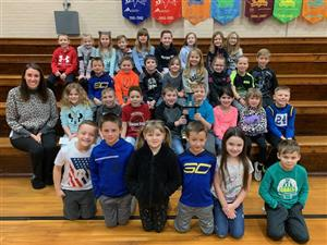 Mrs. Stone's Class and the attendance trophy