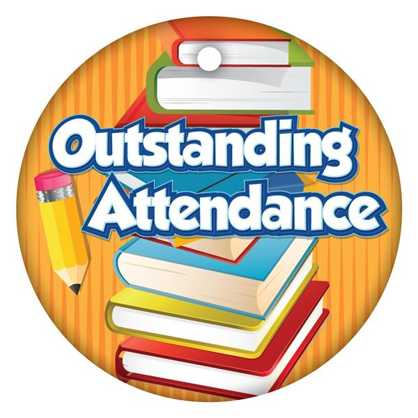 outstanding attendance with ribbon