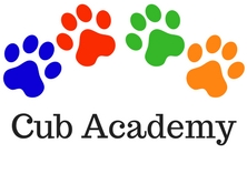 4 paws with the words Cub Academy written underneath