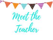 graphic that says Meet the Teacher.