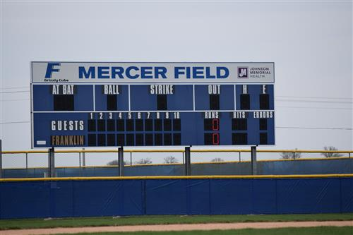 New Mercer Field Scoreboard