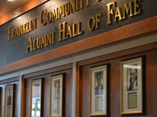 Hall of Fame wall at Franklin Community High School.
