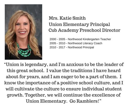 Franklin Community Schools Names Katie Smith as Union Principal