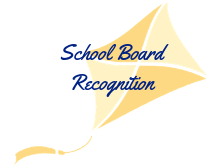 Kite that says school board recognition