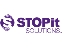 Stop It Solutions in purple writing