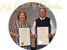 Picture of Deb Brown-Nally and Jeff Mercer with the words The Circle of Corydon written over them.