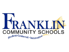 Franklin Community Schools logo - kite with student centered * innovative as tail of kite