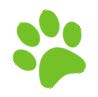 Green pawprint