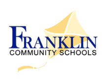 kite with the words franklin community schools