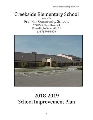 Creekside School Improvement Plan 2018-2019