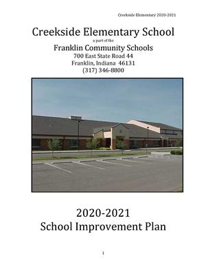 Front Page Image of School Improvement Plan