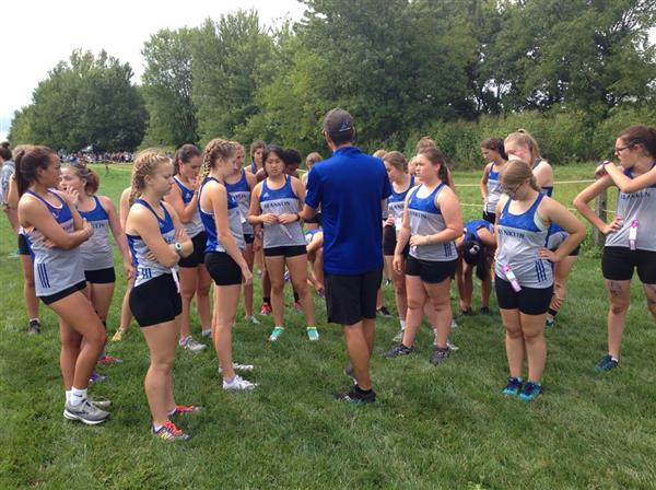 Franklin Girls Meet with Coach Lane