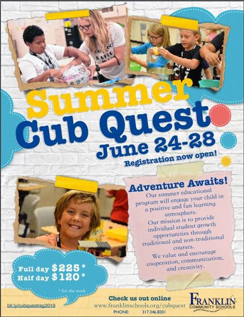 Summer Cub Quest Flyer 2019