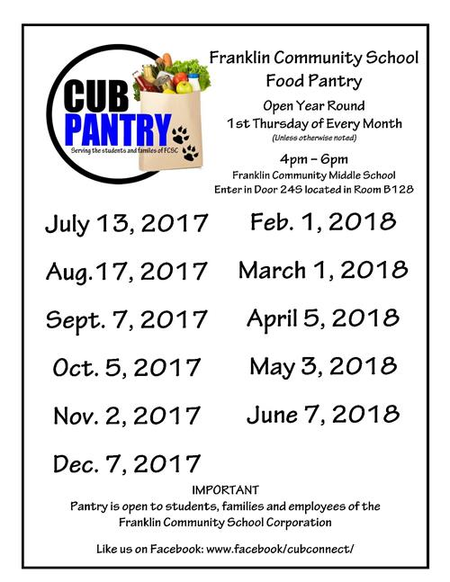 Image of cub pantry dates of operation.