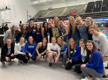 group photo of FCHS Swimmers winning 2nd place at State