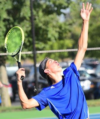 Franklin tennis player serving