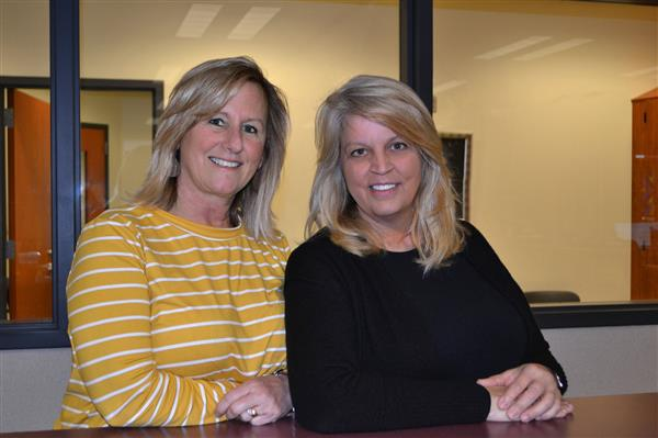 Picture of Margie Buchanan, Support Staff of the year and Bev Wilson Teacher of the year