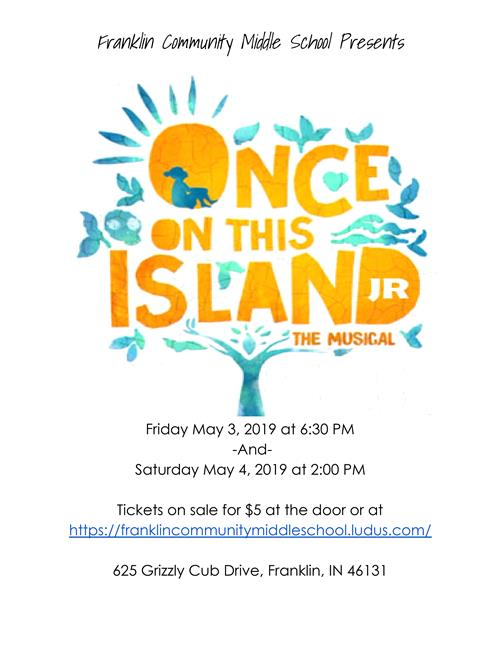 Spring Musical being help on May 3rd at 6:30 pm and May 4th at 2:00 pm
